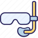 dive mask, diving mask, half mask, scuba mask icon