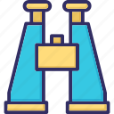 binocular, field glass, spyglass, telescope icon