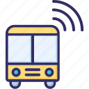 autobus, bus, signals, wifi icon