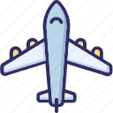 aeroplane, airplane, flight, jet icon