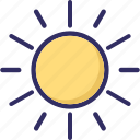brightness, energy, light, solar icon