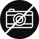 camera restriction, don't use camera, photo forbidden, photo restrict icon