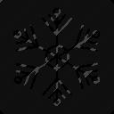 christmas flake, crystal flake, ice flake, snowflake icon