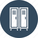 cupboard, furniture, interior, lockers icon