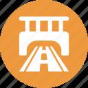 bridge, highway, journey, path icon