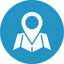 location marker, location pin, location pointer, map icon