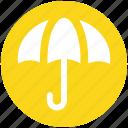 insurance, protection, rain, rainy, summer, umbrella icon