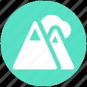 mountain, mountains, nature, parks, ski, terrain icon