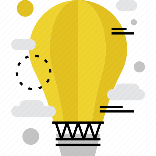aerostat, aerostation, air, balloon, exploration, exploring, flying icon