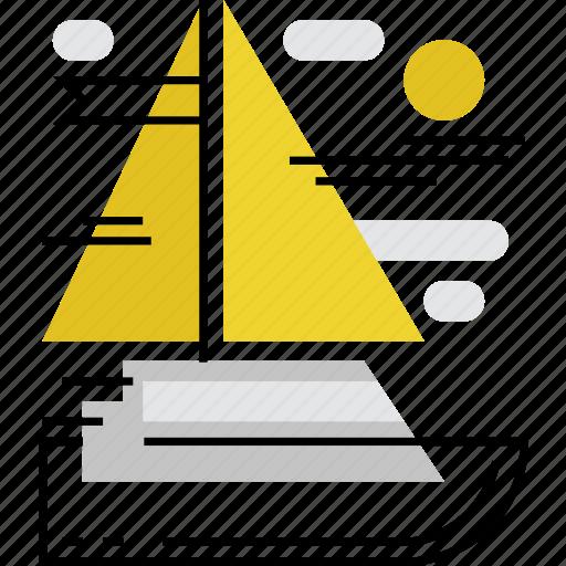 cruise, sail, sailing, ship, travel, yacht, yachting icon