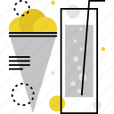 cream, dessert, food, ice, icecream, soda, water icon
