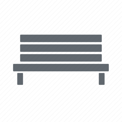 bench, park, rest, wooden icon