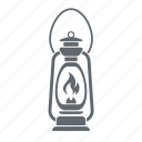 lamp, lantern, retro icon