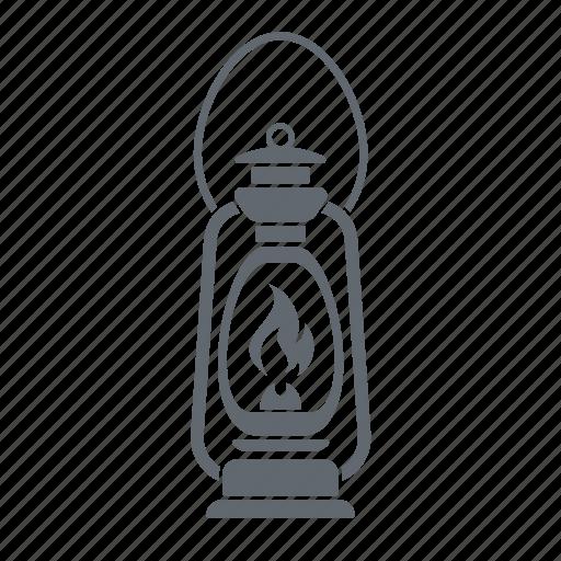 lamp, lantern, retro icon
