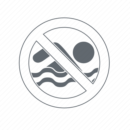 dangers, noswim, prohibition, swimming icon