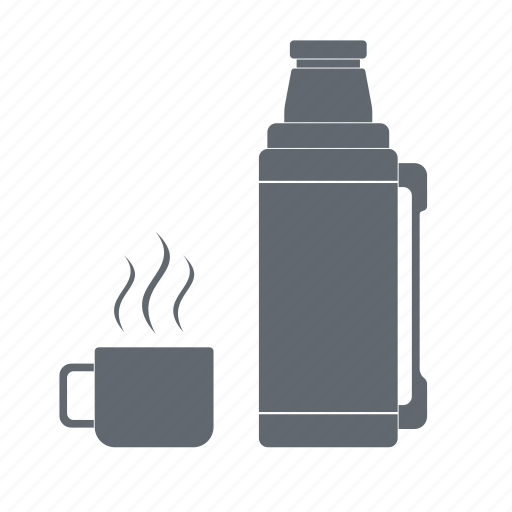 cup, hot drink, thermos, travel icon