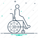 disability, disabled, handicap, person, wheelchair icon