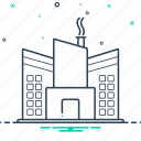 factory, industry, manufacture, warehouse icon