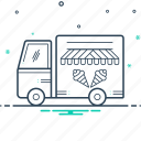 carriage, conveyance, icecream, van, vechicle icon