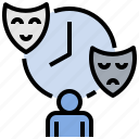 behavior, bipolar, drama, emotional, mask, moody