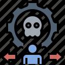 action, bad, behavior, skull, toxic, toxic behavior