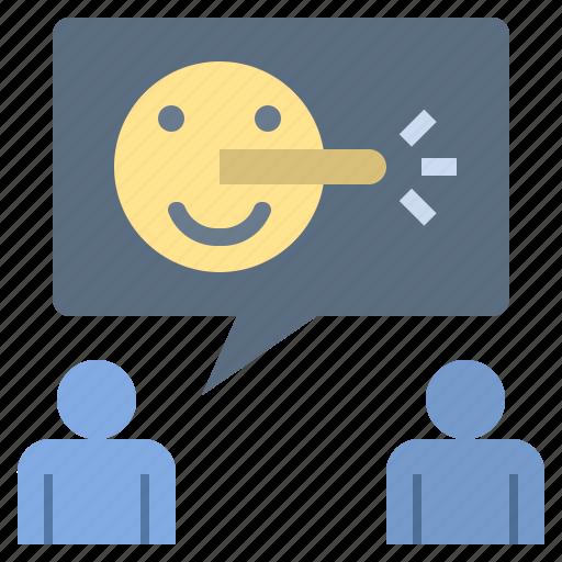 Cheat, deceiver, liar, lie, storytelling icon - Download on Iconfinder