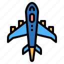 aeroplane, airplane, toy, transportation icon