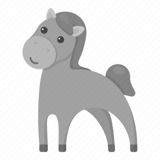 animal, domestic, horse, pet, ungulate, unrealistic, zoo icon