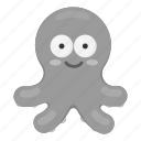 animal, marine, ocean, octopus, sea, unrealistic icon