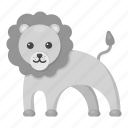 animal, lion, mammal, predator, unrealistic, wild, zoo icon