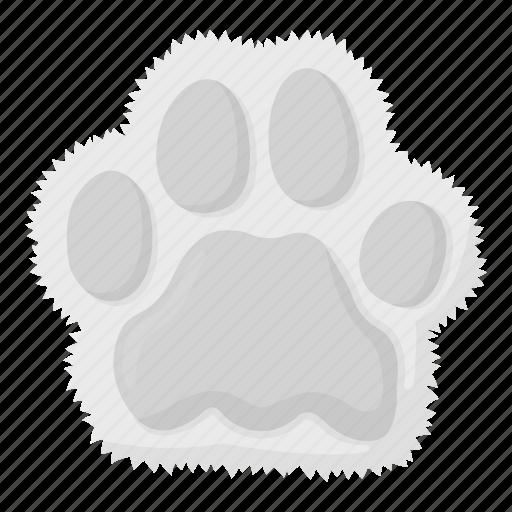 animal, cat, footprint, imprint, paw, pet, zoo icon