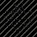animal, bee, insect, unrealistic, zoo icon