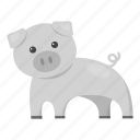 animal, domestic, farm, pet, pig, toy, unrealistic icon