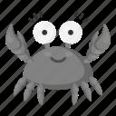 animal, arthropod, crab, marine, toy, unrealistic, zoo icon