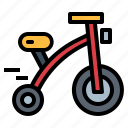 transport, tricycle, vehicle icon
