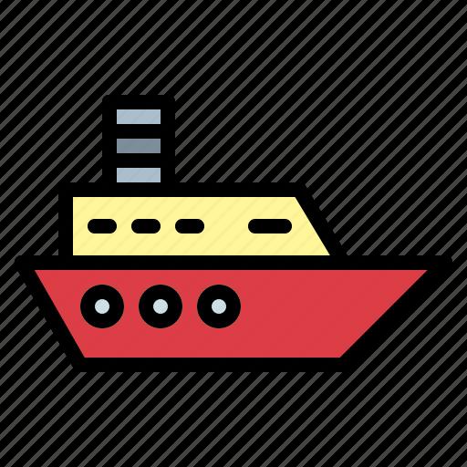 boat, cruise, ship, yacht icon