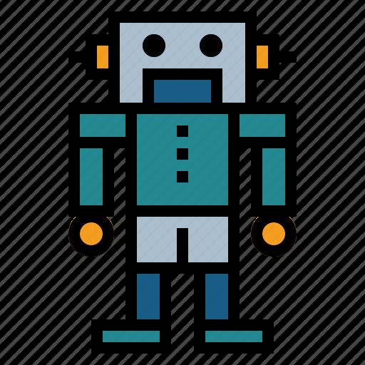 robot, robot toy icon