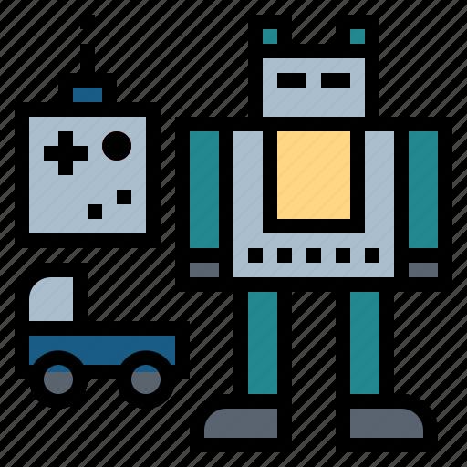 robot, toy car, toy robot, toys icon