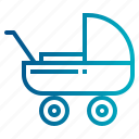 buggy, childhood, children, pushchair, stroller icon