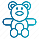 baby, bear, teddy, teddy bear, toy icon