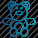 baby, teddy bear, toy, bear, teddy