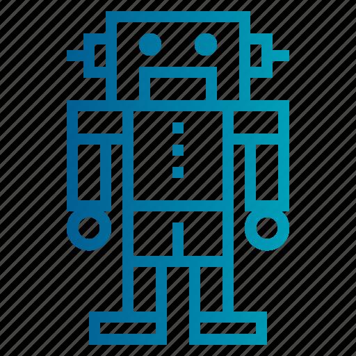 robot, toy, toy robot icon