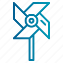 pinwheel, windmill icon