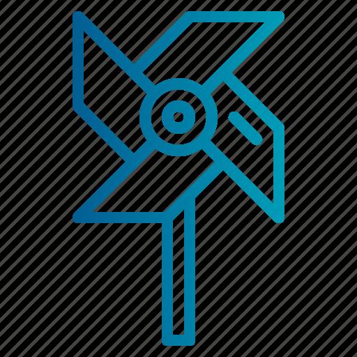 pinwheel, windmill icon