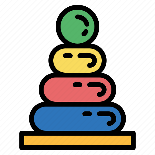 baby, sorting, stacking, toy, wood icon