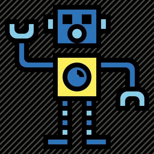 droid, figure, robot, toy icon