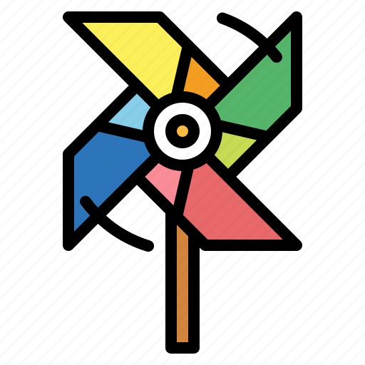 blow, kid, toy, windmill icon