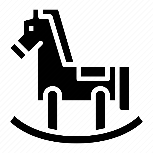 fun, horse, rocking, wooden icon