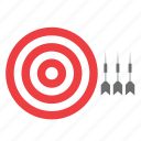 bull's eye, bullseye, centre, darts, game, target, toy icon