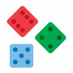dice, game, toy icon